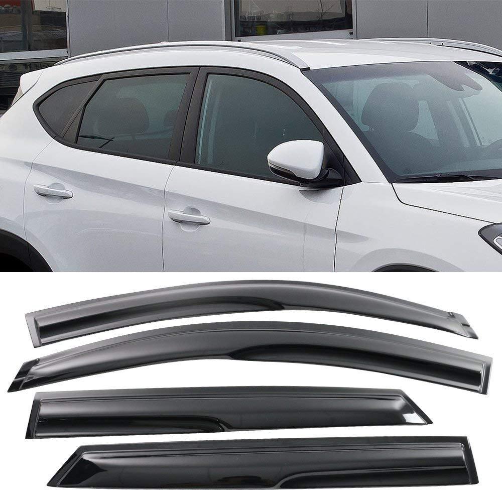 Window Visor Fits 2016-2017 Hyundai Tucson Mugen Style Window Visor Rain Guard Shade 4PC