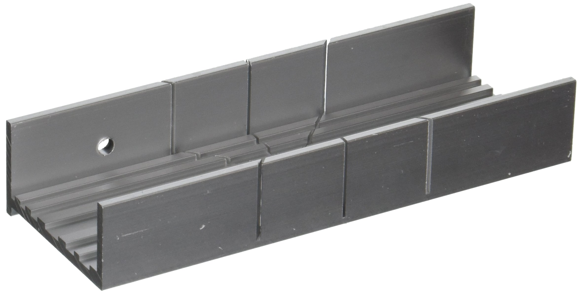 Zona 35-260 Aluminum Wide Slot Miter Box, Slot Size 031-Inch, Slot Angles 45, 90, Cutting Depth 3/4-Inch, Cutting Width 1-3/4-Inch, Length 5-1/2-Inch