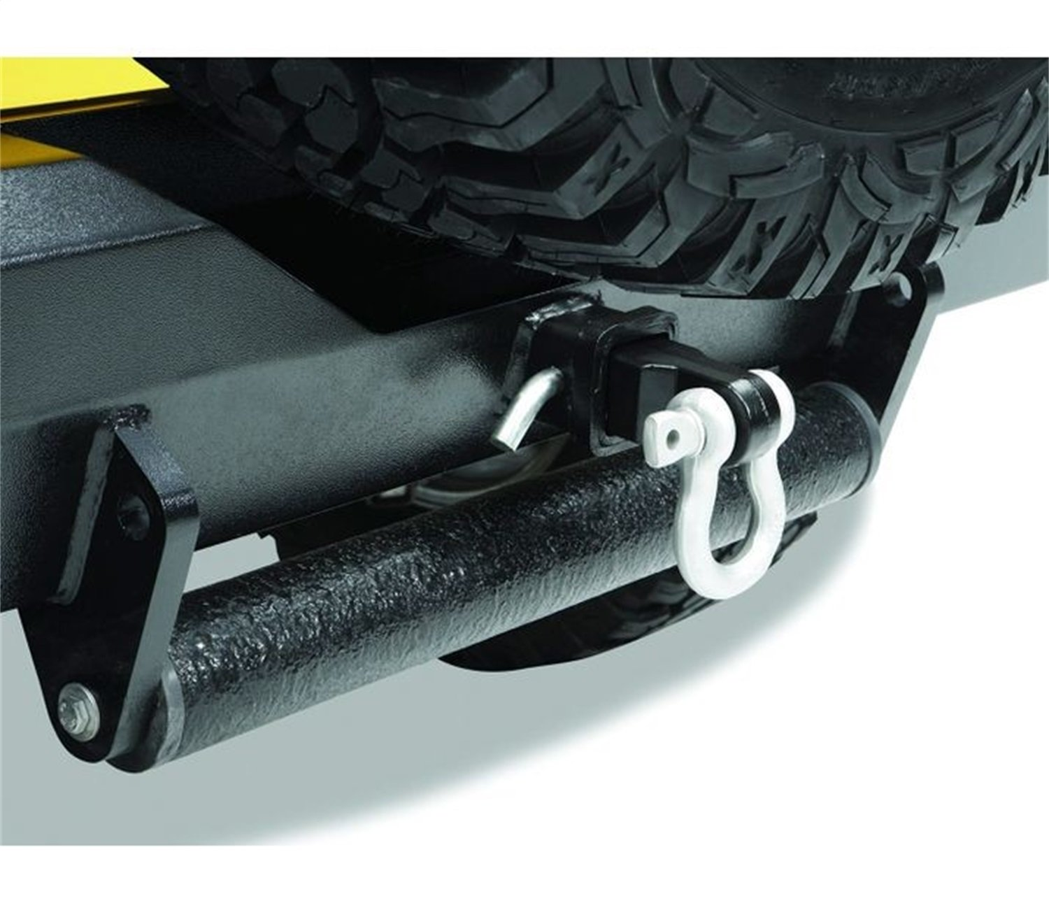 Bestop 42922-01 HighRock 4X4 2' Receiver Recovery Hitch Insert with D-Ring Shackle