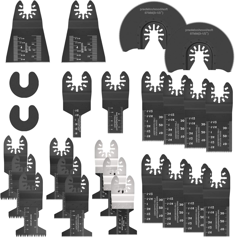 10 St/ück Universelles Multitool S/ägebl/ätter Set Oszillierendes S/ägebl/ätter Kit Mix Oszillierende Klingen Multi-Tool Zubeh/ör /ür Holz,Kunststoff und Metall mit Schleifpapier