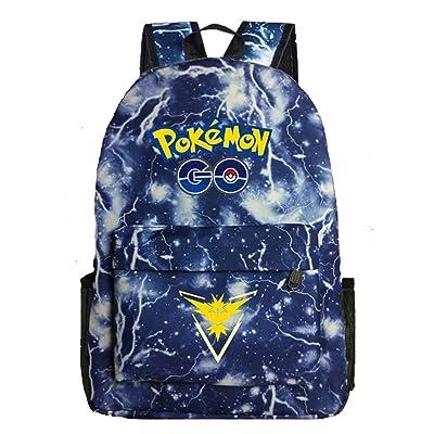Kids Cartoon Pokémon Backpack School Rucksack Backpack for Boys Girls One Size | Kids' Backpacks