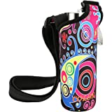 ICOLOR Water Bottle Carrier Neoprene Water Bottle Holder w/Adjustable Shoulder strap Sling insulated Outdoor Sports Water Bottle Bag Case Pouch Cover,Fits Bottle w/ the diameter less than 3 inch