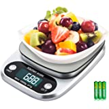 Diyife Digital Kitchen Scale, 22lb/10Kg Food Scale Stainless Steel Platform Baking & Cooking Scale with LCD Display for Food Weighing, Cooking, Postage, Jewelry, Batteries Included - Item Weight 310g