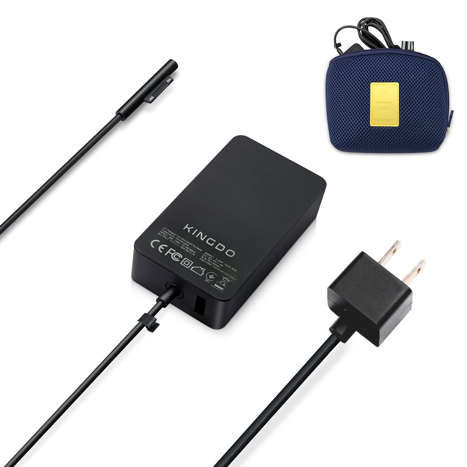 Surface Pro 4 Charger Surface Pro 3 Charger Surface Pro Charger, 36W 12V 2.58A Power Supply Compatible Microsoft Surface Pro 3 Surface Pro 4 i5 i7 Surface Pro 5 Surface Laptop Including Carrying Pouch