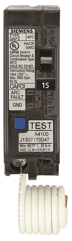 Siemens QA120AFC 20-Amp Single Pole 120-volt Plug-On Combination ...