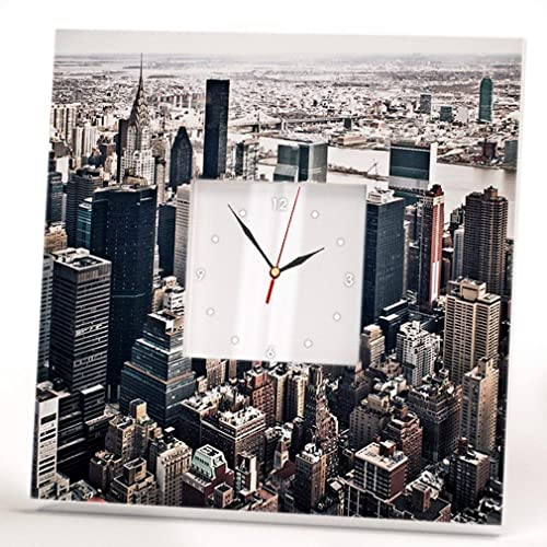 Image Unavailable Not Available For Color New York City Wall Clock Framed Mirror Manhattan Skyscrapers Home Decor