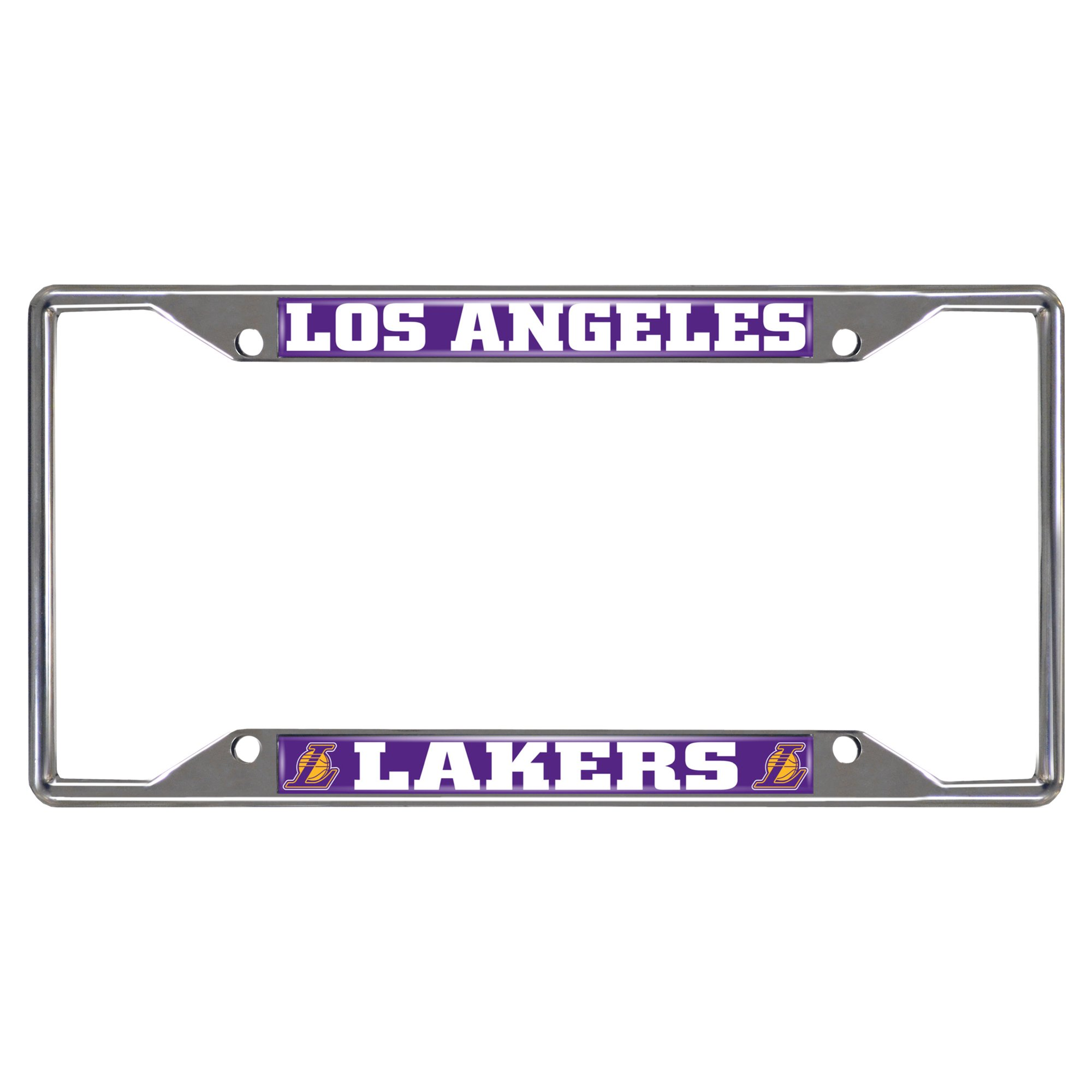 Fanmats 14796 NBA Los Angeles Lakers Chrome License Plate Frame