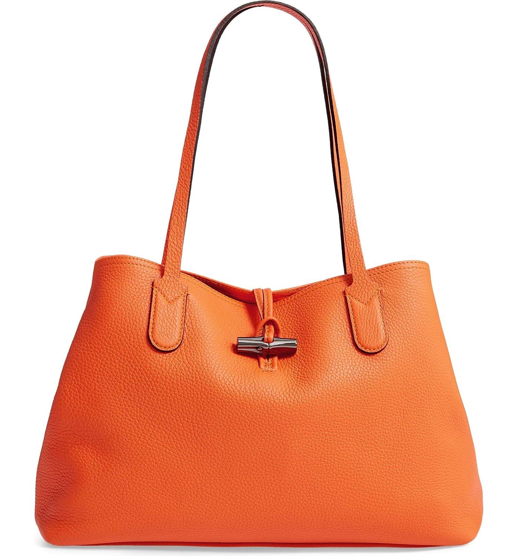 [ロンシャン] レディース トートバッグ Longchamp Roseau Essential Mid Leather T [並行輸入品] B07NV8WH1B  One-Size