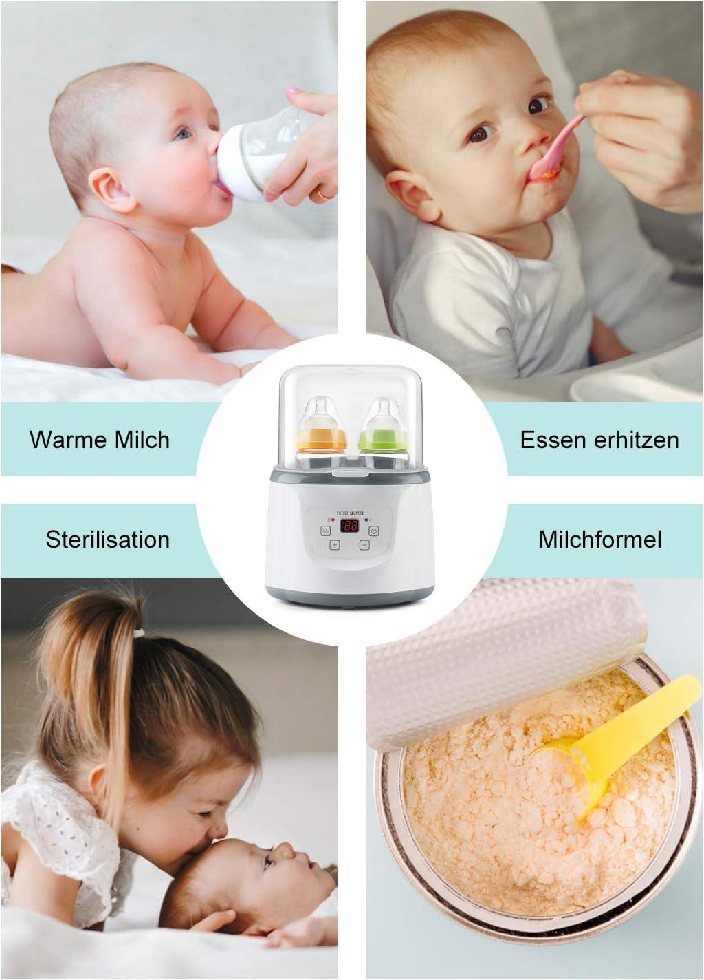 Calentador de biberones 6 en 1 para beb/és doble esterilizador de vapor para biberones y chupetes