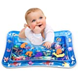 Infinno Inflatable Tummy Time Mat Premium Baby Water Play Mat for Infants and Toddlers Baby Toys 3 6 9 12 Months, Strengthen