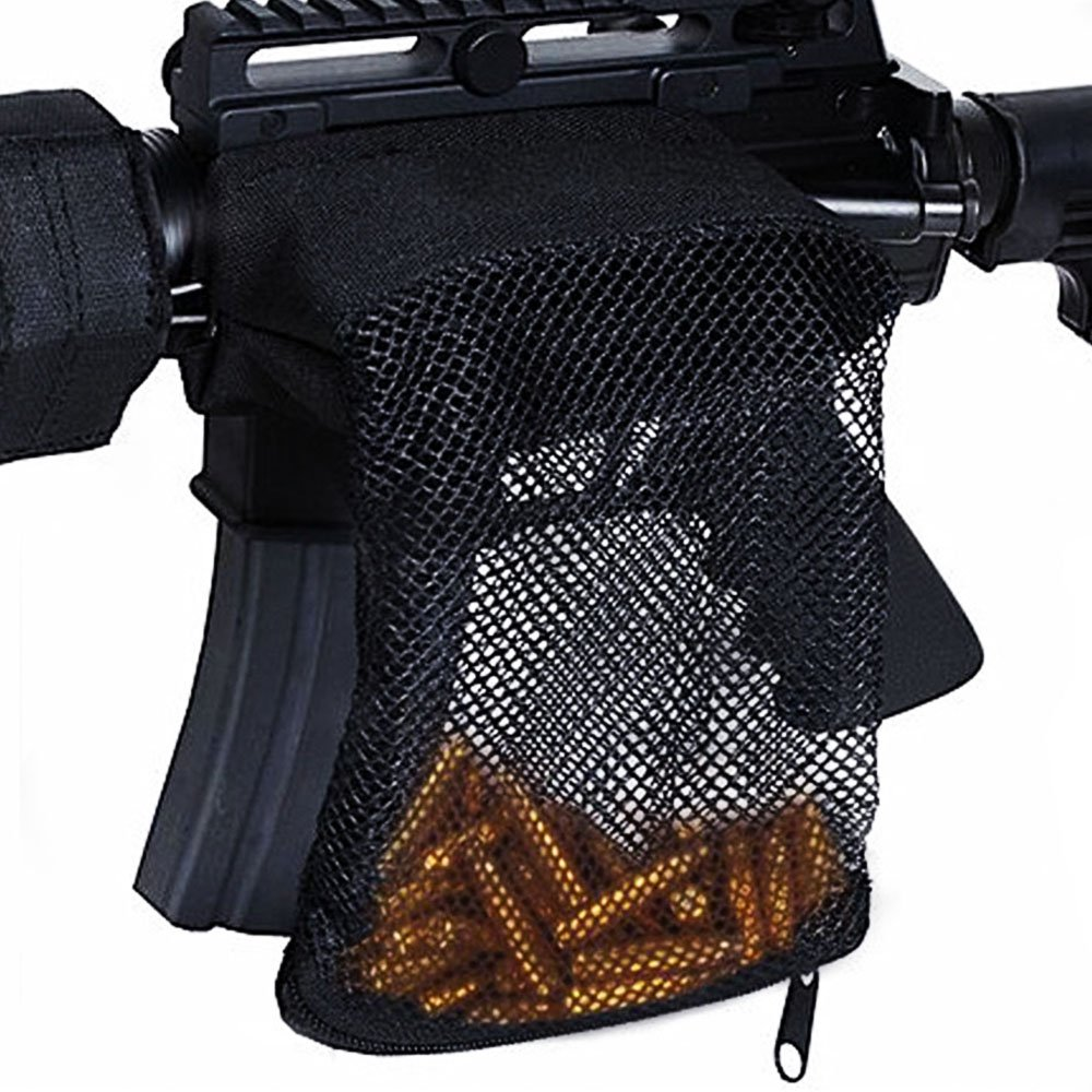 Young go - Brass Shell Catcher AR-15.223 5.56 Ammo Rifle Bullet Catcher Mesh Trap with Zippered for Outdoor Activities