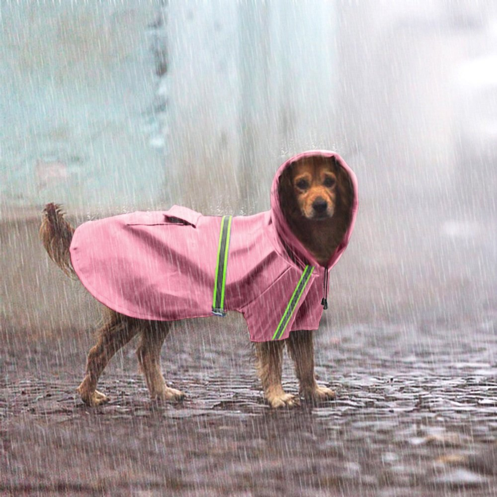 Pet Dogs Rain Jacket Raincoat Adjustable Lightweight Poncho with Reflective Stripe for Small Medium Large Dog Breeds,Puppy Waterproof Clothes,Dog Rain Gear Rainy Days by Riveroy (Image #2)