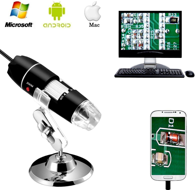 Aluminiumlegierung USB Mikroskop Halterung Digital Mikroskop Lift St/änder Unterst/ützung Halter Universal Einstellbare Professionelle Basis St/änder Halter