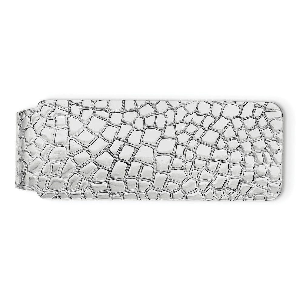 Best Birthday Gift Sterling Silver Rhodium-plated Money Clip