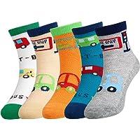 VBG VBIGER Kids Fashion Cotton Crew Socks, Unisex Casual Mesh Socks for Boys Girls 5 Pack