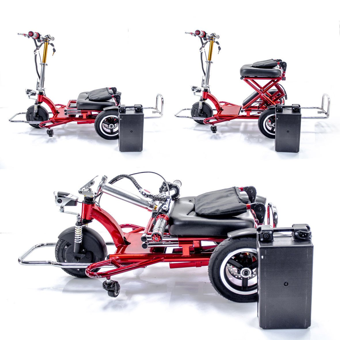 Amazon.com: Triaxe Sport Foldable Scooter - Color Metallic Red - 13