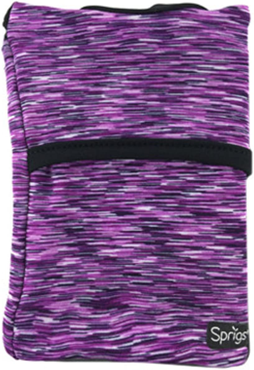 Card Walking And More IDs Purple Melange, One Size Fits Most Wallet Pouch That Holds Cash Running Sprigs Banjees 2 Pocket Wrist Wallet//Wrist Band//Wrist Pocket For Travel