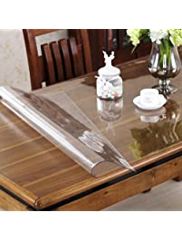 OstepDecor Custom 1.5mm Thick Crystal Clear Waterproof U0026 Oil Proof PVC Table  Protector Tablecloth