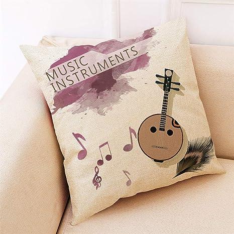 Muium 🔥🔥 Funda de cojín Instrumento Musical Funda de ...