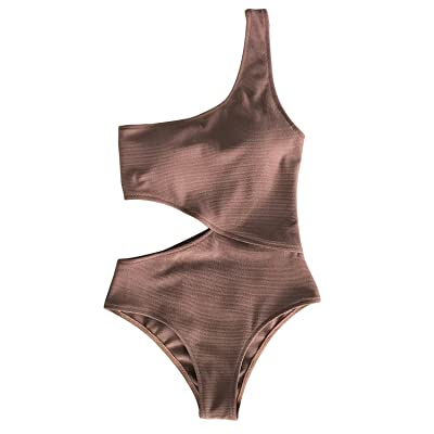 CUPSHE Women's Candy Rain One Shoulder One-Piece Swimsuit Bathing Suit at Women's Clothing store