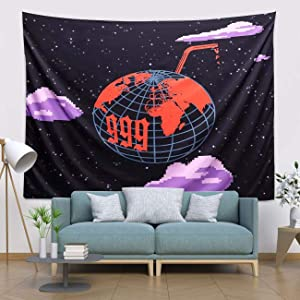 Jui-ce WRLD 999 Tapestry Wall Hanging Tapestries 3D Boutique Art tapestry Colorful Cute Wall Blanket Interior Home Decorations for Living Room Bedroom Dorm Decor (51.2 x 59.1 Inch)