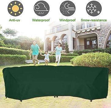 Exterior Curvo Modular Sofá Funda, Resistente Impermeable Muebles de Jardín Sofá Funda, Media Luna Modular Sofá Juego Protector, Todo el Tiempo Protección - Verde, 228x116x86cm: Amazon.es: Bricolaje y herramientas