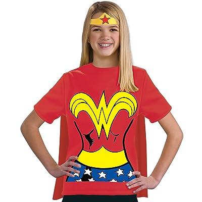 Justice League Child's Wonder Woman 100% Cotton T-Shirt - Large: Toys & Games