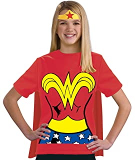 Justice League Childs Wonder Woman 100% Cotton T-Shirt - Small