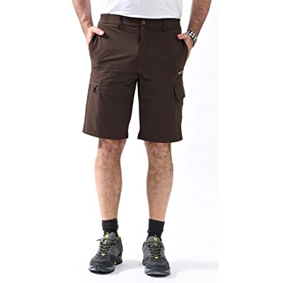 svacuam Mens Outdoor Quick Dry Hiking Cargo Shorts with Zipper Pockets