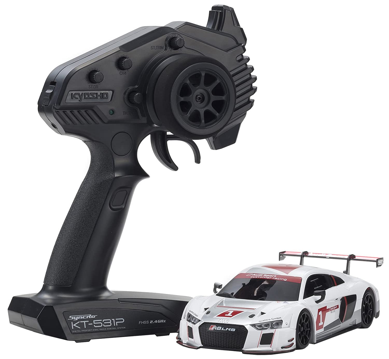 京商 1/27 ラジオコントロール 電動ツーリングカー ミニッツRWDシリーズ レディセット Audi R8 LMS 2015 White 32323AS B07CR3KQ68