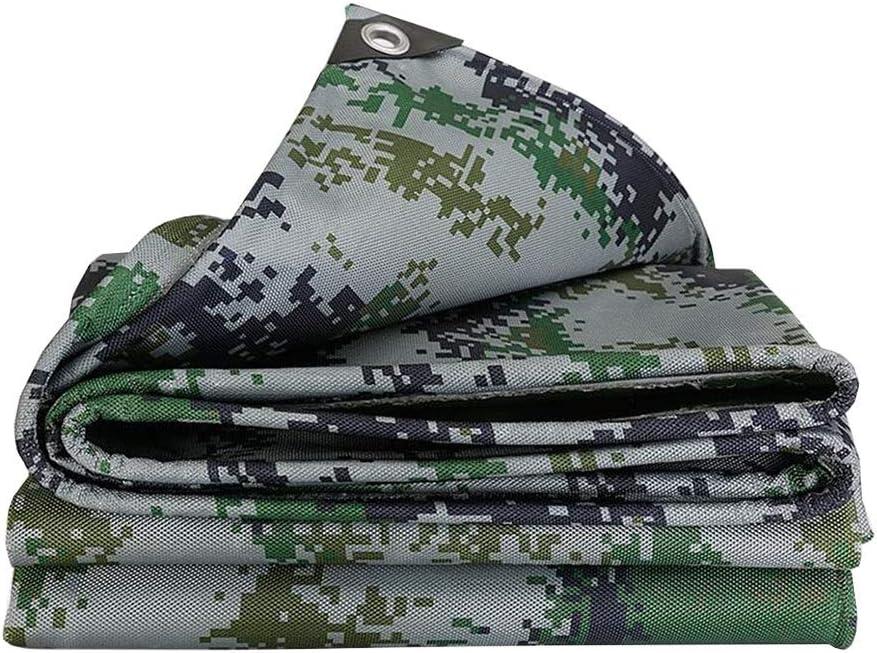 DALL ターポリン 防水タープ 迷彩 オックスフォード布 厚さ0.4mm オイルクロス 耐引裂き性 酸化防止剤 500g /㎡ (Color : 緑, Size : 6×7m) 緑 6×7m
