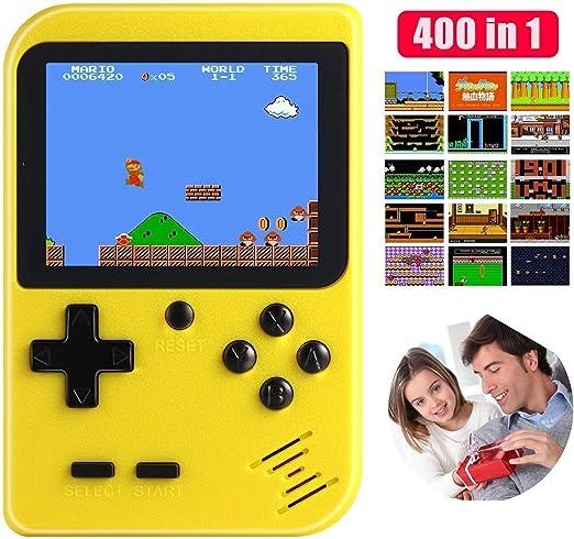 Consola De Juegos Portátil, 400 Juegos Clásicos, Pantalla LCD De ...