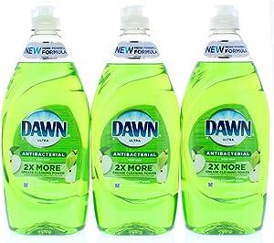 3 Pk. Dawn Ultra Antibacterial Dishwashing Liquid, Apple Blossom, 19.4 Fl. Oz (58.2 Fl. Oz Total)