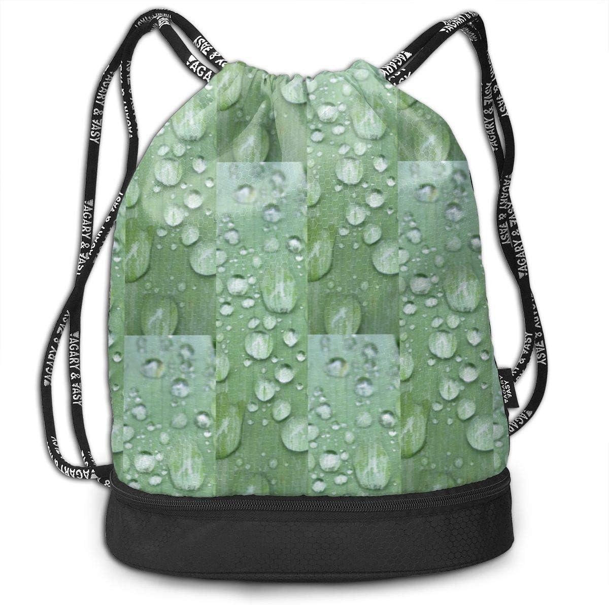 Raindrops Keep Fallinon Leaf Drawstring Backpack Sports Athletic Gym Cinch Sack String Storage Bags for Hiking Travel Beach