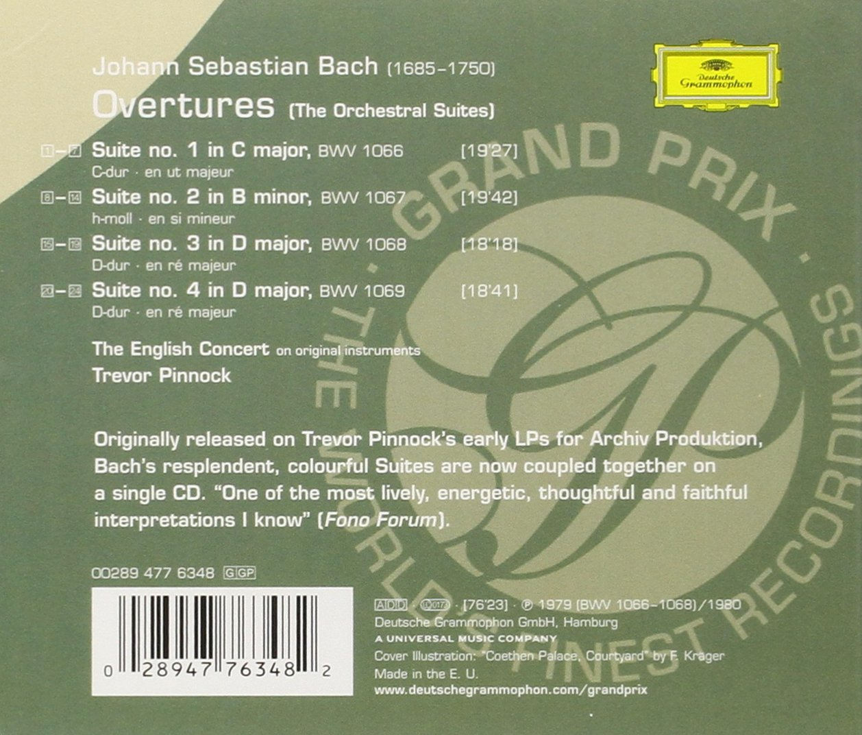 Orchestral Suites BWV 1066-1069 by Bach