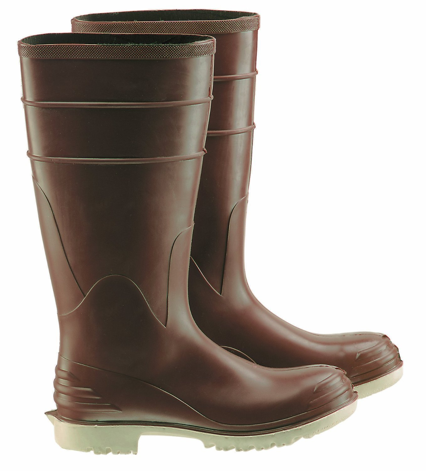 Bata Shoe 84076-08 Onguard Industries Size 8 Polymax Ultra Brown 16'' PVC Knee Boots With Ultragrip Sipe Outsole, Steel Toe And Removable Insole, English, 15.34 fl. oz., Plastic, 16'' x 8'' x 1''
