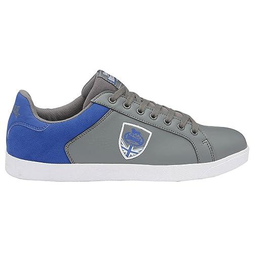 Lonsdale Leon 2 gris y zapatillas azules, color, talla 41 EU: Amazon.es: Zapatos y complementos
