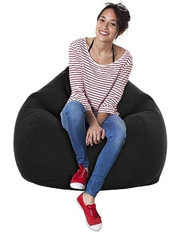 Poufs gonflables Lot de 2 minis fauteuils Poire poign/ée de Transport int/égr/ée Housse Amovible imperm/éable PVC Polyester Multicolore