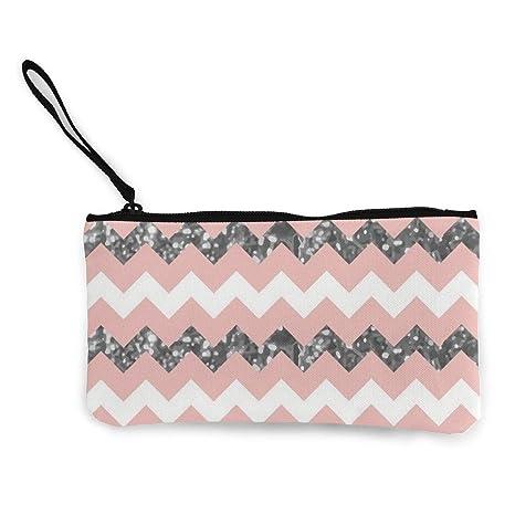 Yamini - Monedero con diseño de Zigzag, Color Blanco y ...