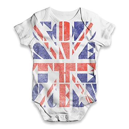 4b2da2429247 TWISTED ENVY Union Jack God Save The Queen Baby Unisex Novelty All ...