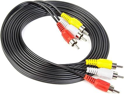 Yellow red white cord