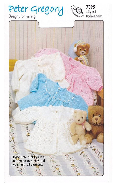 Baby Matinee Jacket Bonnet /& Bootees~ Intricate Pattern ~ 3 Ply Knitting Pattern
