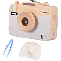 Baby Storage Box Wooden Camera-Pattern Treasure Memory Storage Box Case for Baby Milk Teeth and Baby Hair (C) Durable…