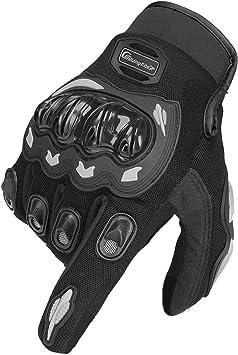 Artop Motorrad Handschuh Herren Damen Kinder Vollfinger Motorradhandschuhe Sommer Touchscreen Motorcross Handschuhe Männer Black Xl Auto