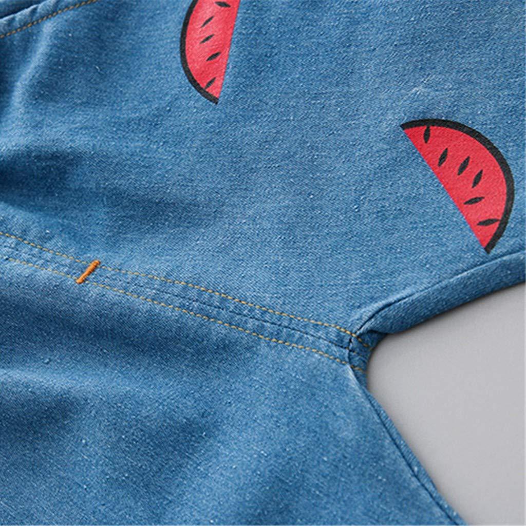 Camiseta Manga Corta de Estampado de sand/ía Oso y Vaqueros Corto Fossen Ropa Bebe Ni/ño Verano 2019 para 0-24 Meses Recien Nacido Beb/é Conjunto de Dos Piezas