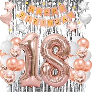 18th Birthday Balloons Decorations Party Supplies For Girls