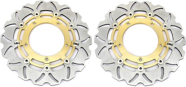 Tarazon Gold Paar Bremsscheiben Vorne Für Suzuki V Strom Dl 650 Abs Traveller X Xpedition 2007 2012 Auto
