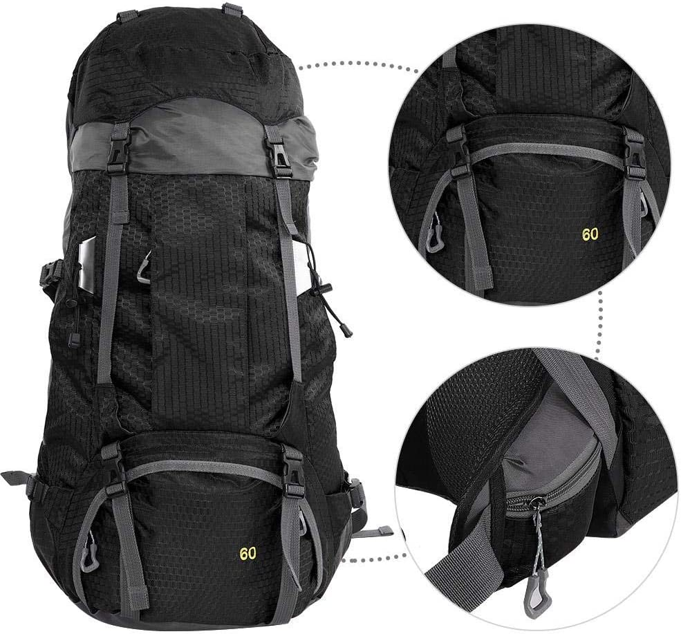 Zerone Outdoor Sports Hiking Bag Backpack Waterproof Oxford 60L