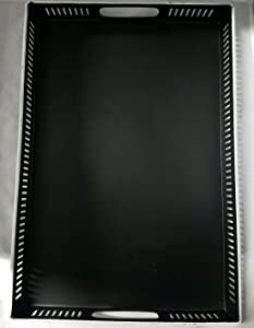 Hearth & Hand with Magnolia Joanna Gaines Metal Decorative Black Farmhouse Tray Large