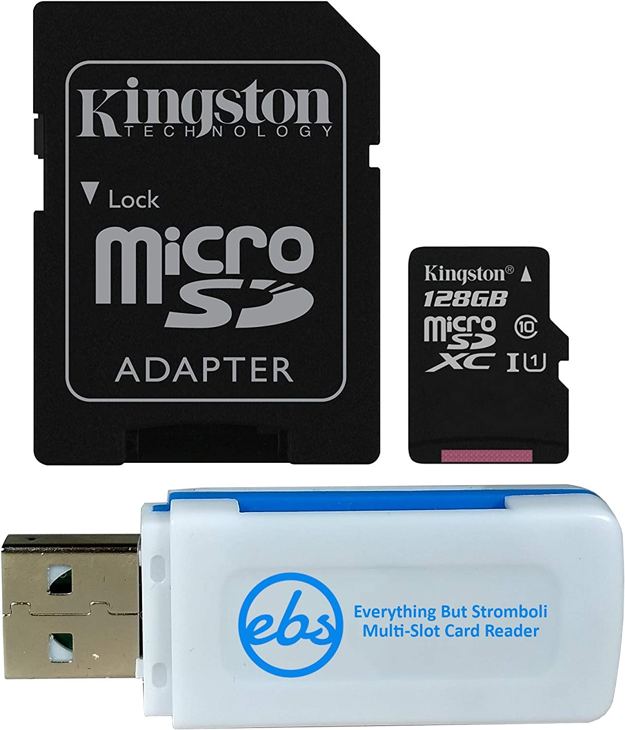 100MBs Works with Kingston Kingston 128GB Samsung SM-T590 MicroSDXC Canvas Select Plus Card Verified by SanFlash.